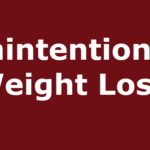 Unintentional Weight Loss Causes