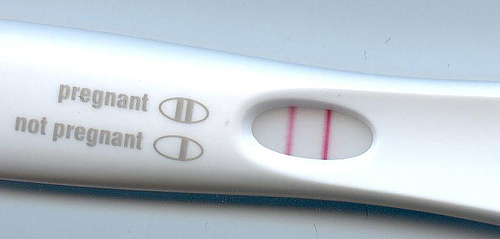 Home Pregnancy Test Kit shows pregnancy