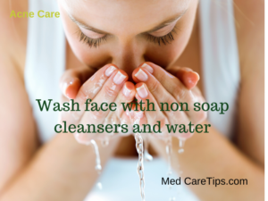 wash face for acne care