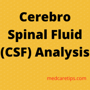 Cerebro Spinal Fluid Analysis 3